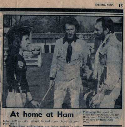 Ginger Baker at Ham Polo Clum