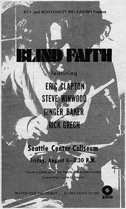 Blind Faith play Seattle Coliseum